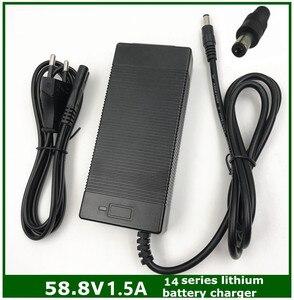 Image 1 - Cargador de batería de litio para bicicleta eléctrica, cargador de batería de litio de 58.8V1.5A, 58,8 1.5A V, para Serie 14, cargador de 58.8V1.5A