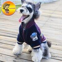 New Arrivals Autumn Winter S XXL FB Puppy Coat Dog Baseball Jacket Pet Clothes Dogs Clothing