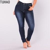 4d6639e0831c TUHAO 2019 SPRING Large Size 5XL 6XL 7XL Jeans Women Push Up Stretch Denim  Pants Jeans. TUHAO 2019 SPRING Tamanho Grande 5XL, 6XL, calças ...
