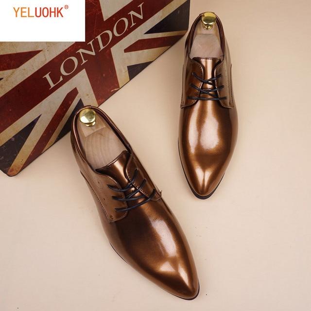 38-48 Patent Leather Shoes Men Vintage Oxfords For Men Dress Shoes Formal  Men Shoes Office Lace Up 7b8a61752516