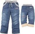Зима дети мальчики и девочки большой бархат джинсы