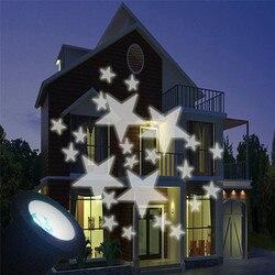 Wodoodporna LED ruchome zimny biały gwiazda projektor laserowy światło na zewnątrz lampa ogrodowa lampa krajobrazowa ogród lampki świąteczne Zewnętrzne oświetlenie Lampy i oświetlenie -