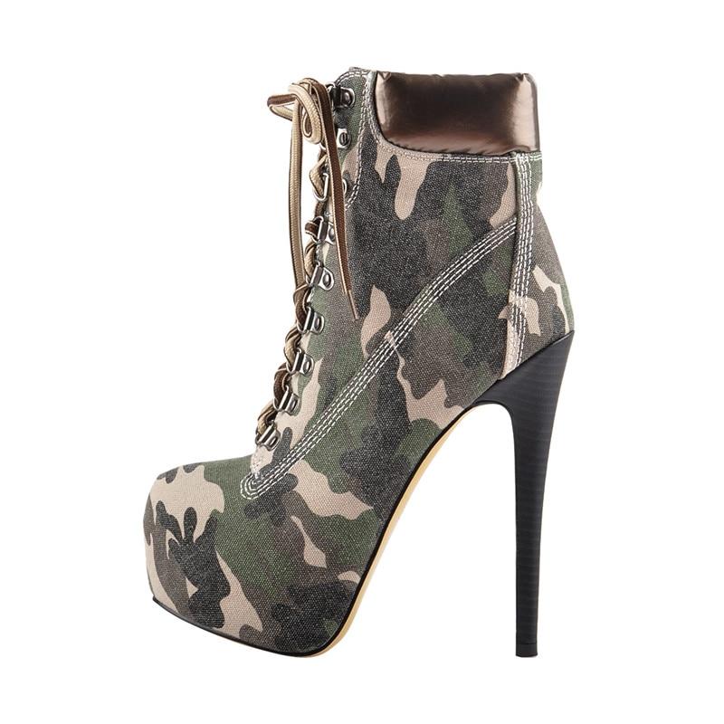 Onlymaker najwyższej jakości damskie Spike buty 16cm wysoki obcas 3cm platformy zasznurować botki buty pompy szpilki Plus rozmiar 13 w Buty do kostki od Buty na  Grupa 3