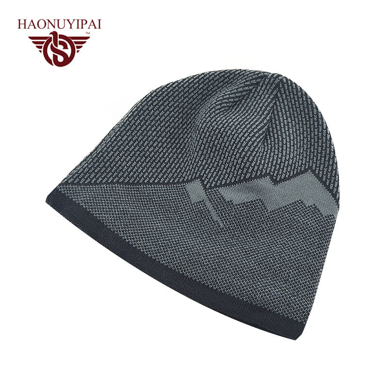 2016 Brand Beanies Hats Mens Cotton Autumn Winter Bonnet Cap Gorro Thick Warm Baggy Skullies Outdoor Ski Sports Hat