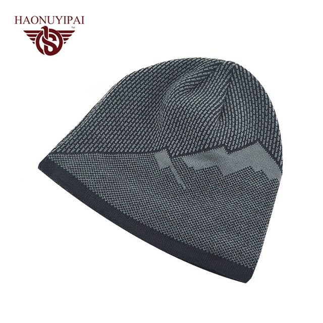 2016 Brand Beanies Hats Mens Cotton Autumn Winter Bonnet Hats Cap Gorro Thick Warm Baggy Skullies Outdoor Ski Sports Hat