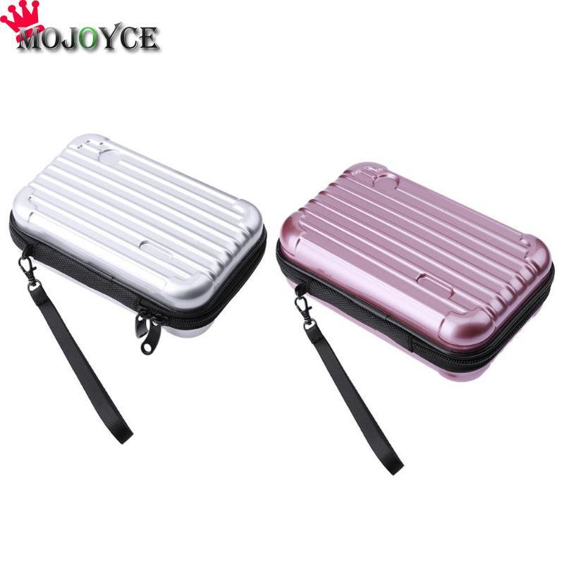 Luggage Design Travel Plastic Cosmetic Bag Makeup Bag Organizer Case Storage Box Fashion Multi-function Suitcase Design