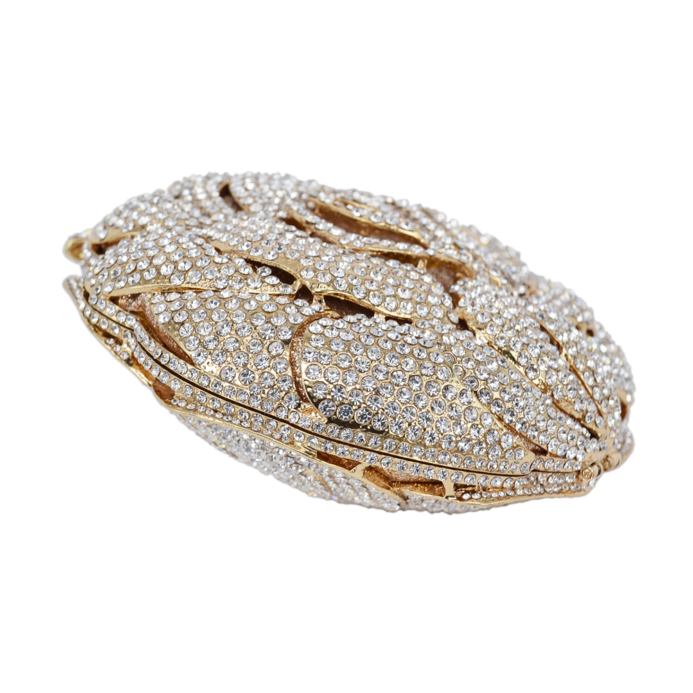 Women's Bags Silver Golden Crystal Evening Bag Rhinestone Luxury Studded Feast Clutch Bag Rose Flower Diamond Sparkly Party Purse 88239