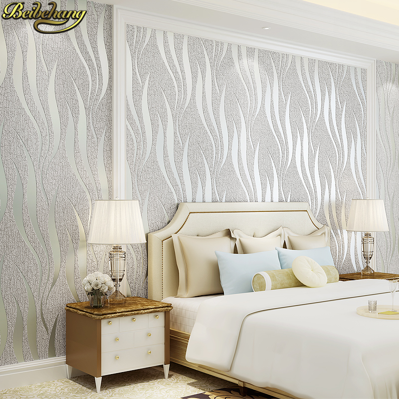 Us 44 88 34 Off Beibehang 3d Velvet Leather Thickening Wallpaper Bedroom Living Room Sofa Tv Background Modern Striped Wallpaper Papel De Parede In