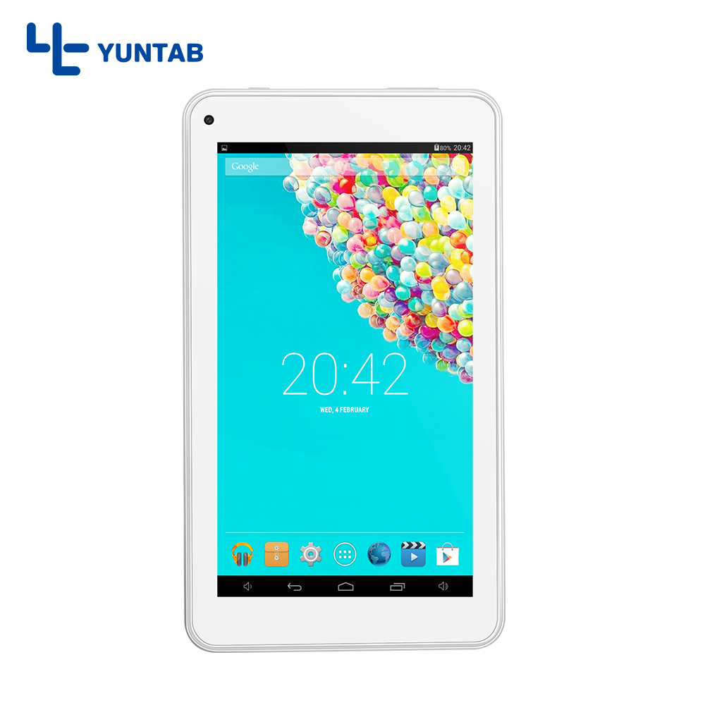 Yuntab 3 colors 7 inch Andriod 4.4 T7 Tablet PC Allwinner A33 Quad Core Dual Camera External 3G, 2200mAh battery taipower onda 8 inch 9 inch tablet pc battery 3 7v 6000mah 3 wire 2 wire lithium battery