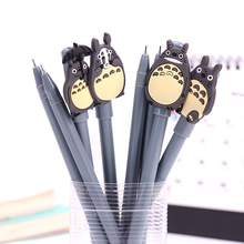 1PC Writing Tool Supplies Cute My Neighbor Totoro Gel Ink Pen Escolar Office Gel Pens Learning Essential Stationery Child Gifts 4pcs novelty cute my neighbor totoro gel ink pen signature pen school office supply as toy finger action for kids