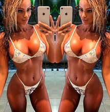 Phaixoneible New Thong Bikini Sexy Swimwear Two Piece Swimsuit Diamond Bathing Suit Women Beachwear Summer Biquini