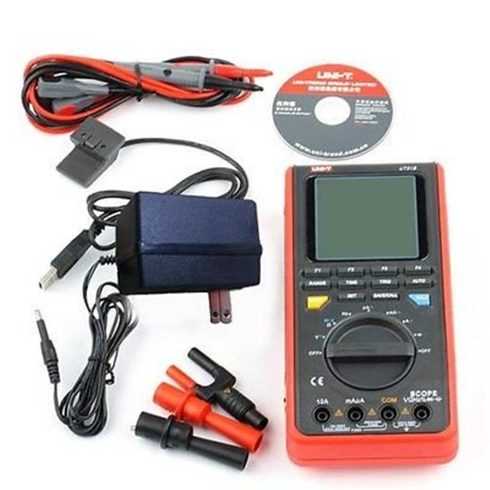 UNI-T UT81B LCD Handheld Digital Multimeter w/USB/ LCD Meter Tester Oscilloscope !!NEW!! ut81b UT-81B uni t ut81b handheld digital multimeter oscilloscope 8 mhz scope 40ms s oscilloscope scopemeter register shipping