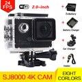 Стиль 4 К 24fps Действий Камеры Wi-Fi Спорт экстрим Мини Камеры Дайвинг Шлем Камера 30 М Водонепроницаемая камера