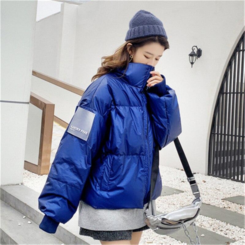 Fashion Oversized Women   Down     Coats   2019 Winter Jacket Women Parkas Cotton Padded Jacket Warm Female Short Wadded Outerwear N860