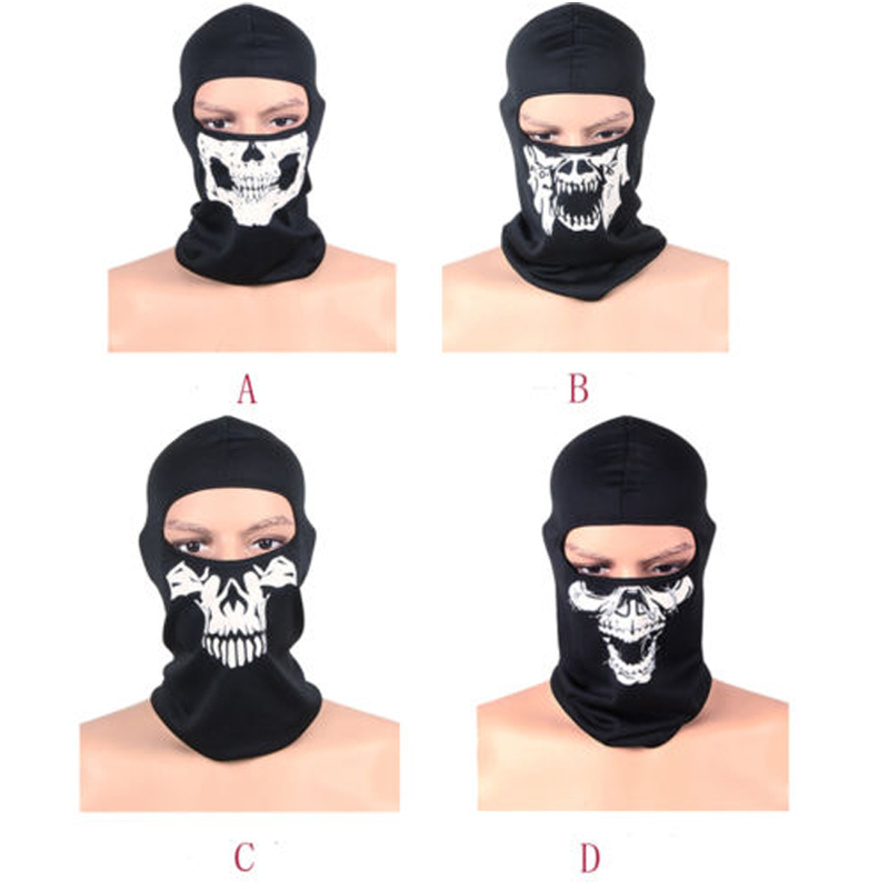 Balaclava Motorcycle Ski Sport Helmet Snood Biker Cycling Ghost Skull Outdoor Full Face Mask Balaclava Headwear Neck Protecting