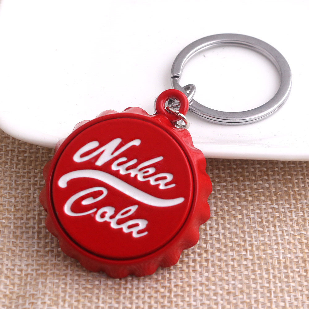 Coca-Cola Key Chain Bottle Opener Lot of 2 Metal White Red