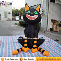 Индивидуальные Хэллоуин Надувные стоя Черный кот модель высокое качество цифровой печати взорвать Cat Реплика для отображения игрушки
