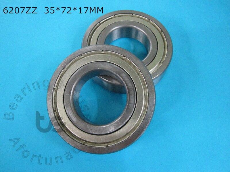 6207ZZ 1Piece bearing 35*72*17(mm) ABEC-5 metal sealing type CHROME STEEL DEEP GROOVE BEARING 6207 6207ZZ gcr15 6326 zz or 6326 2rs 130x280x58mm high precision deep groove ball bearings abec 1 p0