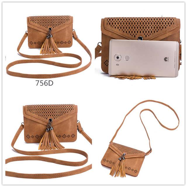 b126e5c74d Miyahouse Tassel Phone Bag Fashion Women Mini Shoulder Bags Female Hollow  Out Mobile Phone Bag Ladies
