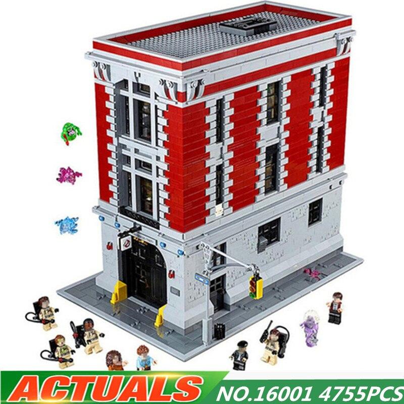 4705 шт. Совместимость Legoing Охотники за привидениями Firehouse штаб квартира набор 75827 diy строительные блоки Образование игрушки для детей подарок