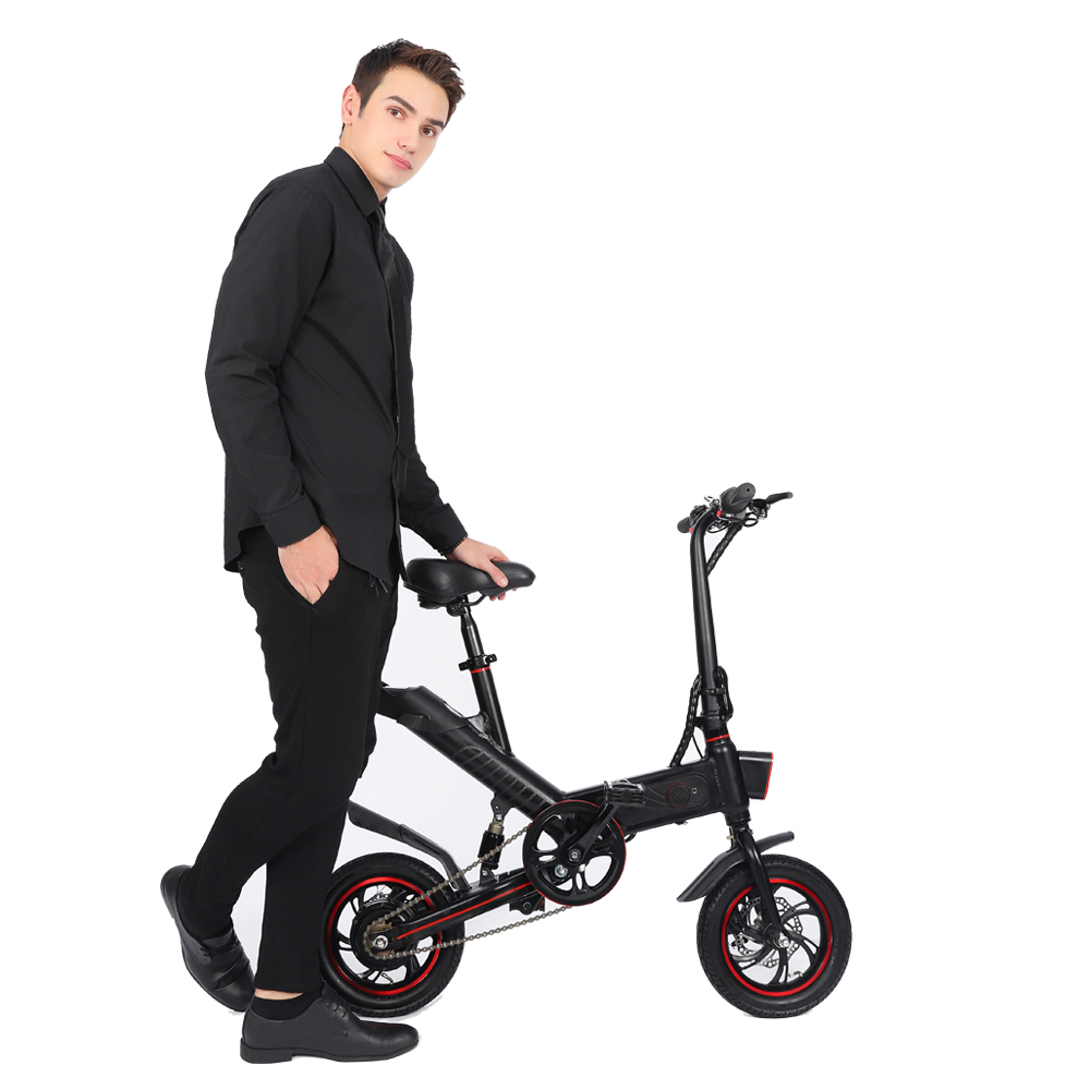 36V 350W 12inch Tire  Electric Bike  Mini Folding Bicycle With Battery And Padels Mini Electromobile Folding Electromobile