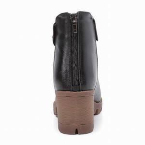 Image 5 - Gktinoo女性のブーツの正方形ヒールプラットフォームzapatos mujer本革腿の高パンプスブーツオートバイの靴