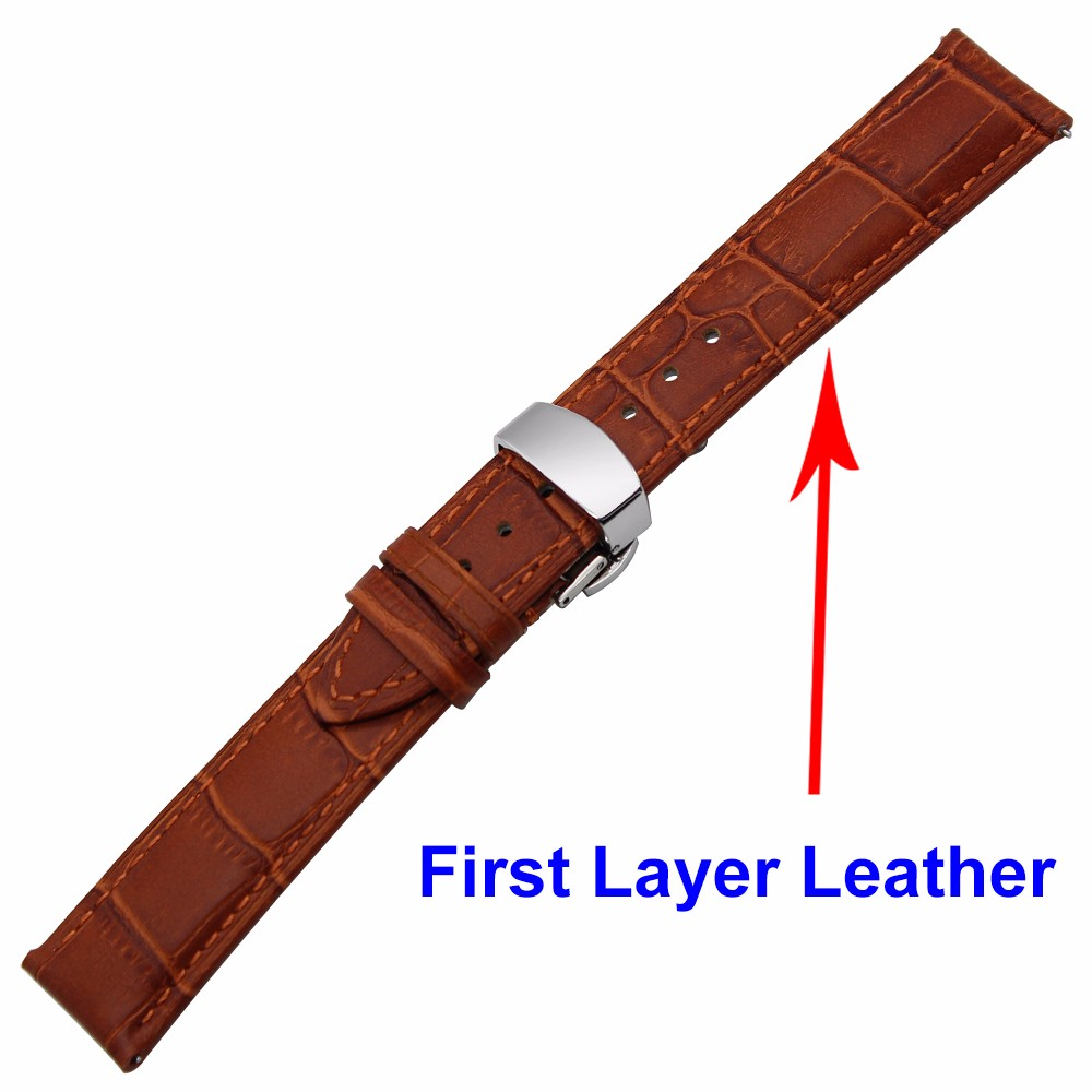 Watchbands Quick Release Watch Band 1st Layer Genuine Leather Strap For Montblanc Men Women Butterfly Buckle Wrist Bracelet 18mm 20mm 22mm Discounts Sale