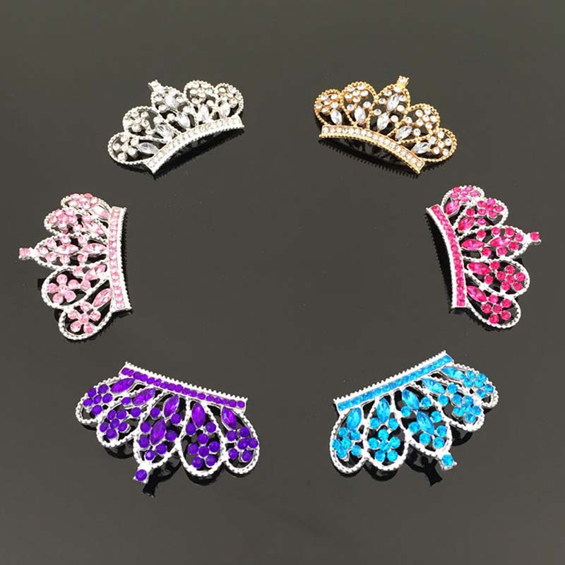 2016New 30Pcs Rhinestone Horse Eye and Plum Rhinestones Crown Buttons for Embellishment clothes or DIY hair accessories HZ21