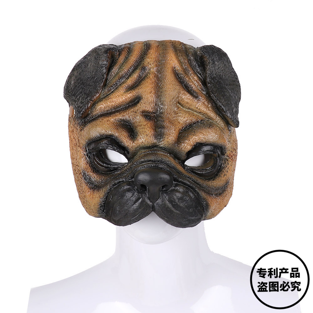 3D Party Animal Realstic EVA Black And White Adult Anime tige Cosplay Masquerade Bunny Ears Pekingese Mask carnival pro