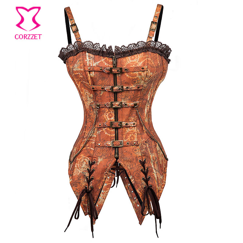 Vintage Swallowtail   Bustier   Steampunk   Corset   Top Gothic Clothing Korse Sexy   Corsets   and   Bustiers   Steel Bone Burlesque Outfits
