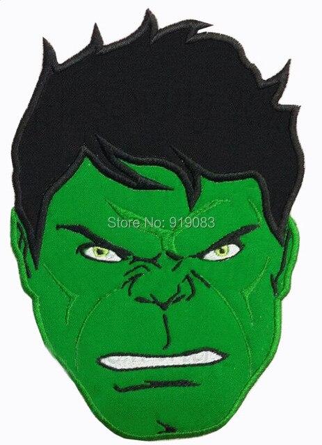 6 hulk rosto grande feltro remendo traje dos desenhos animados