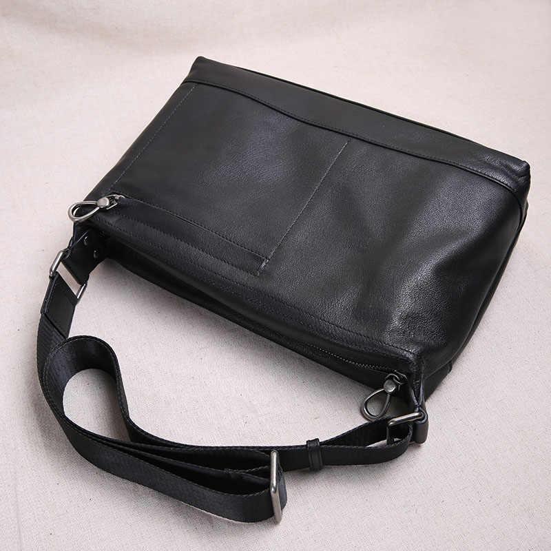 07951d0576a2 ... AETOO сумка через плечо мужская кожаная сумка через плечо Повседневная  верхний слой кожаная мужская сумка новая ...