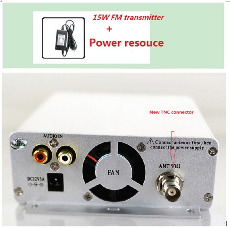Hot sales 1 5W 15w pll FM transmitter FMU SER ST 15B with franquency range 87MHz