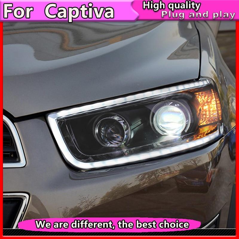Car Headlight for Chevrolet Captiva Headlights Captiva LED Headlight DRL H7 D2H Hid Option Angel Eye Bi Xenon Beam