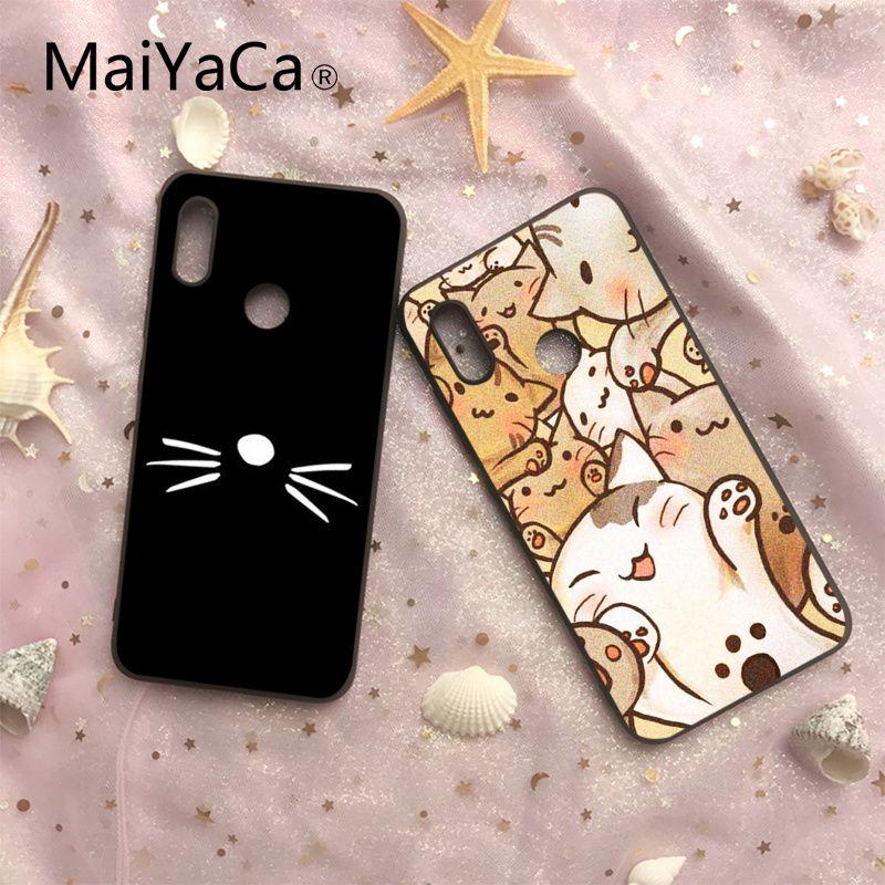 Us 1 79 40 Off Maiyaca Cat Animal Pattern Dan And Phil Black Soft Case For Xiaomi 6 6plus 6x 8 8se Mi Note2 3 Redmi Note 4 5 Redmi5 5plus In