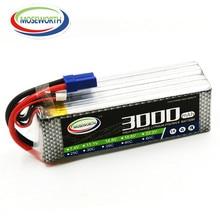 MOSEWORTH 6S RC Lipo battery 22.2v 3000mAh 40C Max 80C For RC Airplane Drone AKKU Batteria Free shipping