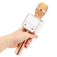 Vehicle Mounted Original Fashion Bluetooth Wireless Condenser Magic Karaoke Microphone Mobile Phone Player MIC Speaker Record