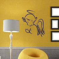 DCTOP Jésus Christ Religion Mur Autocollants Ange Amovible Vinyle Art Stickers Muraux Chambre Décoration