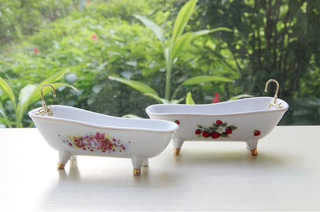Zeepkist keramische eenvoudige moderne tuin bad model vastgoed model