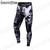 New 2017 Mens Compression Pants Fashion Jogger Tights Lycra Bodybuilding High Elasticity Joggers Base Layer Skinny