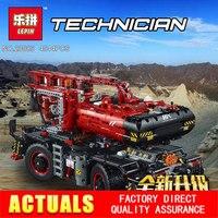 Лепин 20085 техника серии внедорожный кран Совместимость Legoing 42082 строительные блоки кирпичи развивающие игрушки с батарейным блоком