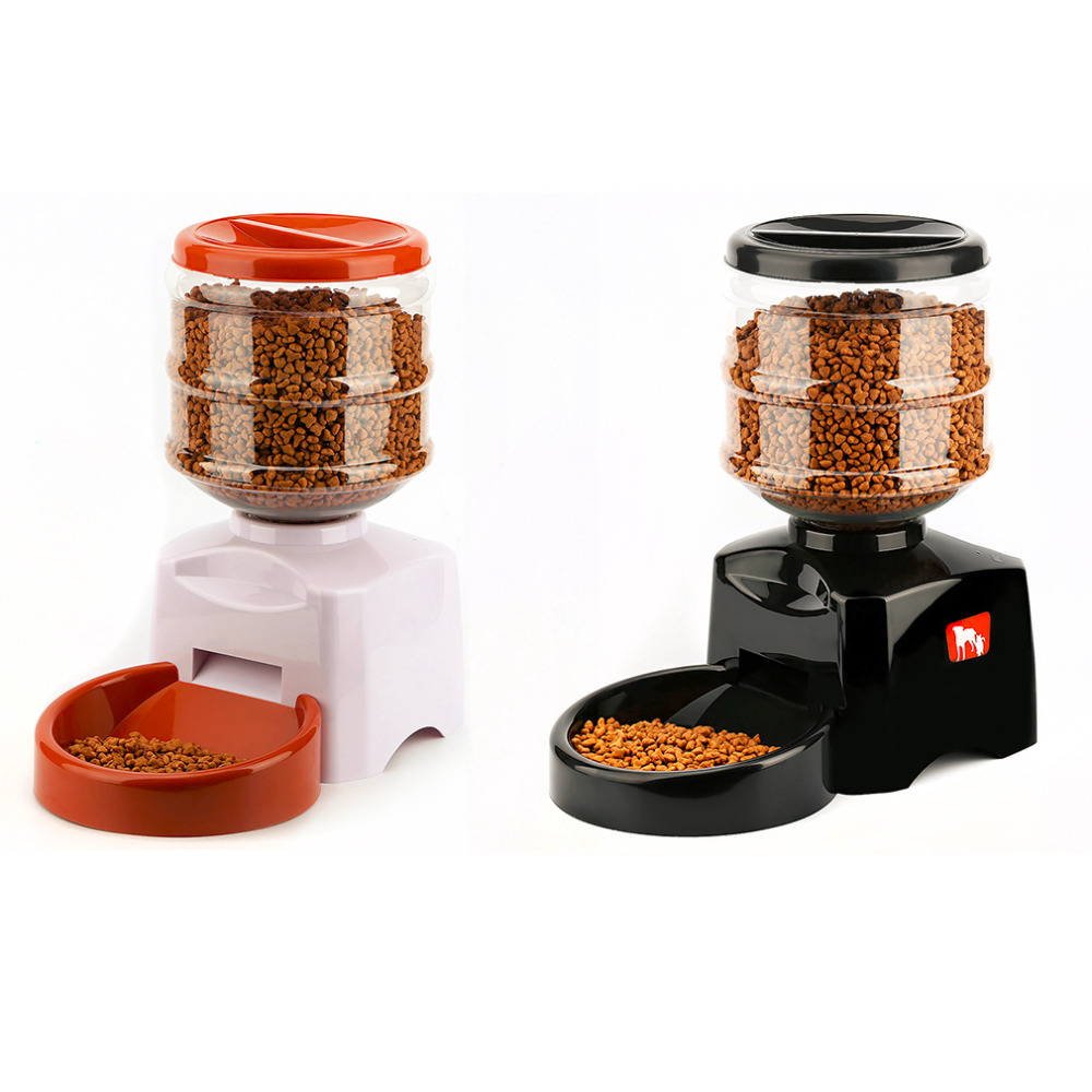 5.5L Automatic Pet Feeder with Voice Message Recording and LCD Screen Large Smart Dogs Cats Food Bowl Dispenser Pet Products цена в Москве и Питере