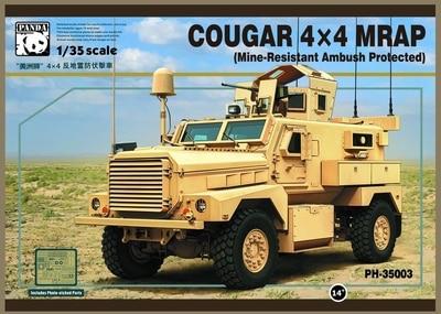 Panda model PH35003 1 35 COUGAR 4X4 MRAP Mine Resistant Ambush Protected plastic model kit