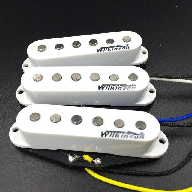 Wilkinson WVS 60er Alnico5 SSS Single Coil Gitarre Pickups Weiß Elektrische Gitarre Pickups Für ST Gitarre Made In Korea