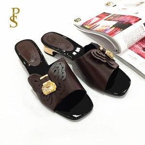 Image 5 - Sapatos de estilo africano para mulher mama chinelos sapatos de salto baixo