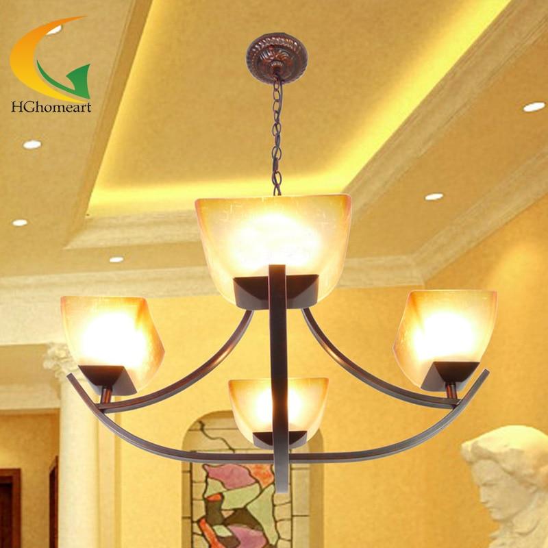 Mediterranean Creative Pastoral Simplicity Retro Living Room Ceiling Lights Restaurant Lamps Bedroom Lighting FixturesChina