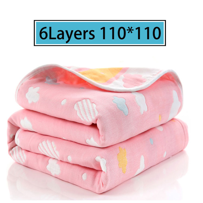 Baby Blankets Muslin Cotton 6 Layers Newborn Swaddling Autumn Baby Warp Swaddle Blankets Infant Bedding Receiving Blanket in Blanket Swaddling from Mother Kids