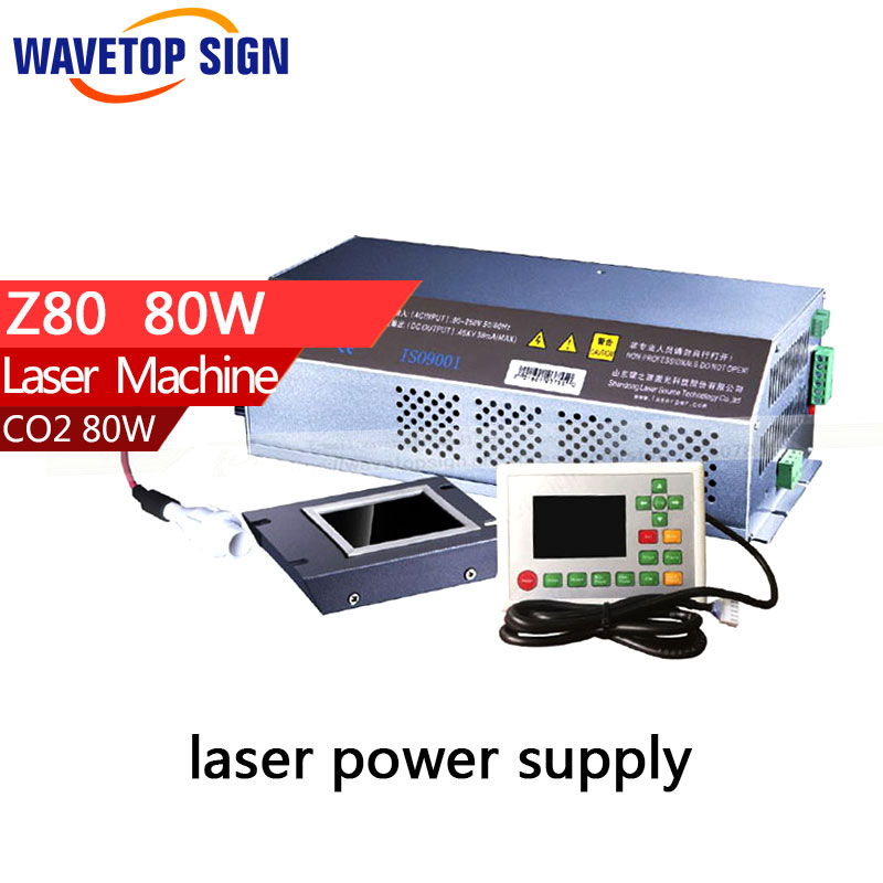 z serial latest version power box  z80 laser power box 80w  input  AC 110v -220v High security New current control mode laser power box 80 co2 laser power box 80w gernally laser power box 80w use for co2 laser tube 80w