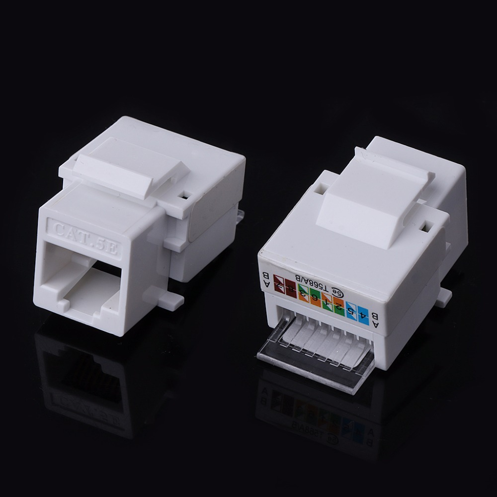 5pcs Utp Rj45 Cat5e Module Tool Free Socket For Network Wiring A Or B Integrated Connectors In From Lights Lighting On Alibaba