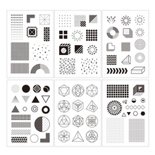 New Design Pattern Dot Stripe Transparent Clear Stamps Silicone Seal for DIY Scrapbooking Card Making Album Decoration Crafts недорого